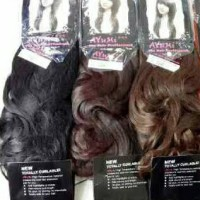 Jual Hair Clip Big Layer 55 cm Curly / Lurus Ayumi / Hairclip straight 55cm Murah