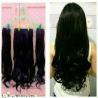 Jual Hair Clip 3 Layer 60 cm Curly / Lurus / Hairclip 60cm Straight Murah