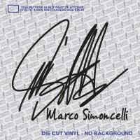 Sticker tanda tangan Marco Simoncelli 10cm Black Yamaha Honda Suzuki