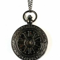 harga Pocket Watch Necklace Kalung Jam Saku Black Wagon Mechanic Tokopedia.com