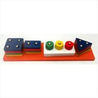 Toko Mainan Kayu Edukatif/Edukasi Anak - Geometri Traffic Light