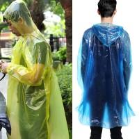Jas Hujan Darurat Plastik Tipis Praktis Emergency Disposable Raincoat