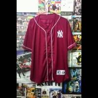 harga Jersey Baseball Ny Merah Maroon Tokopedia.com