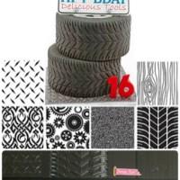 KW Manly texture sheet cetakan fondant mat clay gumpaste mobil kayu