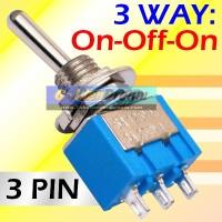 Saklar Toggle 3 Pin 3 Arah ON-OFF-ON Togel Switch Tuas MTS 103 Way