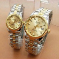 Jam Tangan Couple - Rolex ( Swiss Army Guess Alexandre Christie )