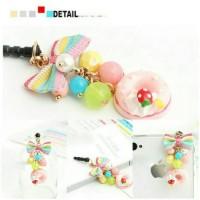 Korean Dunat Rainbow Pluggy / Gantungan Handphone / dustplug