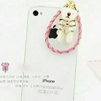 harga Korean White Teddy Bear  Dustplug / Pluggy / Gantungan Handphone Tokopedia.com