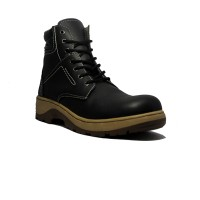Cut Engineer Boots Extreme Safety Shoes Leather - Hitam