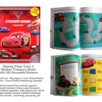 Sticker Book Treasury DISNEY PIXAR CARS (Red) with Over 350 Reusable