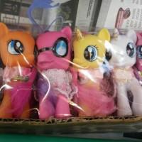 Mainan pajangan my little pony 1 set isi 6