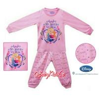 Jual ORIGINAL Baju Tidur Disney Frozen 1-3T/sleepwear/piyama/sleepsuit/elsa Murah