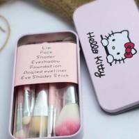 Jual Brush / Kuas Make Up Hello Kitty isi 7pcs / 7 pcs / 7 piece - KALENG Murah