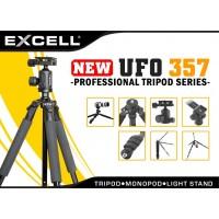 Jual Tripod Kamera DSLR / Digital Excell UFO 357 Ballhead Panning Lock +TAS Murah