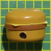 rautan pensil burger penghapus serutan hamburger sharpener eraser
