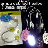 Lampu USB Led Flexibel 13 Mata /USB LAMPU FLEXIBLE LAPTOP HP POWERBANK
