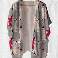 Cardigan Wanita - Kimono Outer Japan Geisha