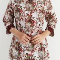 Blouse Batik Modern Wanita, Batik Keraton 253aw