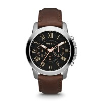 Jam Tangan FOSSIL Original Watch FS4813 GRANT BROWN LEATHER