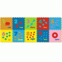 Jual Mainan Edukasi Anak Puzzle Matras Evamats Evamat Angka Bergambar SNI Murah
