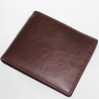 Jual Home Made - Dompet Coin / Koin Pria Kulit Sapi Asli Murah - Coklat Tua Murah