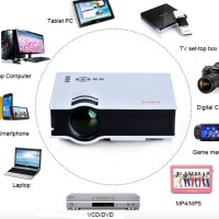 """UNIC UC40 Mini LED Projector Image Size Up To 130"""" 800x480 Resolution"""