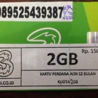 PERDANA TRI AON 2 GB + PULSA 10K /KARTU KUOTA AON 2GB