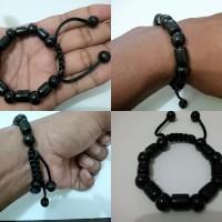 harga 1bh Gelang Batu Giok Hitam Black Jade Asal Aceh Type Kombinasi Elegan Tokopedia.com