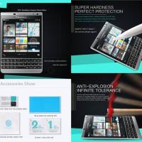 Tempered Glass Nilkin Anti Gores Bb Blackberry Passport Silver Pasport