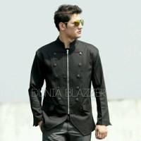 harga Blazer Korea Pria Curve Hitam - Kuliah, Kerja, Preweding, Nikah Tokopedia.com