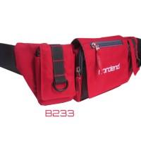 tas pinggang sepeda merah nordend b233 (waist bag,tas sepeda)