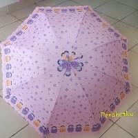 Payung Lipat 3 / 4 + kantong Motif Kimono jepang korea lucu murah D