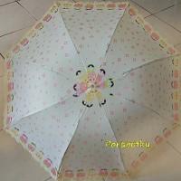 Payung Lipat 3 / 4 + kantong Motif Kimono jepang korea lucu murah B