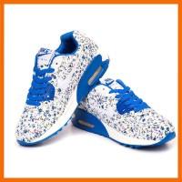 Sepatu Nike Air Max Motif Bunga Biru-Pink/Putih kombinasi