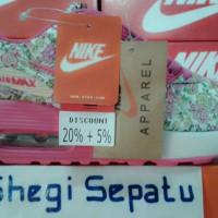 Sepatu Nike Air Max Motif Bunga Pink/Hijau kombinasi-Putih