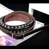 harga Unisex Bangle Punk Leather Bracelet / Gelang Fashion Import Tokopedia.com