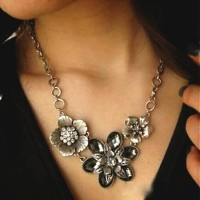Harga Vintage Crystal Flower Necklace Kalung Fashion Import | WIKIPRICE INDONESIA
