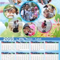 Jual Kalender Foto 2016 -  Versi 1 Lembar - Tema 1 Murah