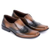 harga sepatu pantofel kulit coklat pria sepatu formal kerja laki laki Tokopedia.com