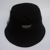topi bucket hat hitam polos