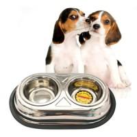 harga TEMPAT MAKAN ANJING (DOG), KUCING (CAT) 2 Stainless Steel Bowl Tokopedia.com