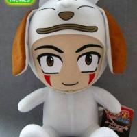 Boneka Boneka Naruto Plush doll Kiba Inuzuka Akamaru Suit 11 inch