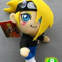 Boneka Naruto Plush doll Deidara Yellow hair 8 inch Limited Japan