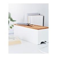 IKEA KVISSLE Kotak Pengaturan Kabel - Putih