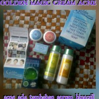 GOLDEN MAGIC CREAM WAJAH PAKET ACNE ( PLUS SERUM BLUECELL)
