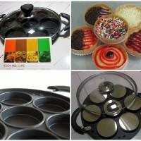 Jual snack maker 7 lubang, cetakan kue martabak mini Murah