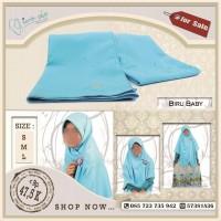 Kerudung Persegi Velvet Biru Baby ukuran Besar / L