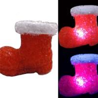 Souvenir Natal Lampu Sepatu Kado Unik Nyala LED Christmas Kristal Bera