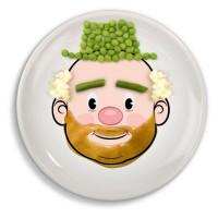 FOOD FACE Kids Dinner Plate Piring Gambar Muka Bisa Dihias Makanan