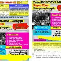 Paket Holiday Kampung Inggris Pare Liburan & belajar bahasa Inggris